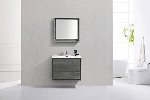 "De Lusso 30"" Ocean Gray Wall Mount Modern Bathroom Vanity -  - bathroom-vanities, bathroom-fixtures-hardware, bathroom - 410 GbSMckL -"