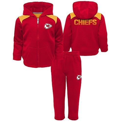 Outerstuff NFL Kansas City Chiefs Infant Play Action Performance Fleece Set, Red, 18 Months