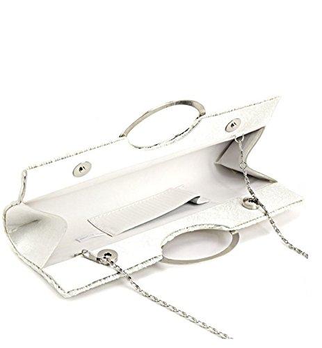 AiSi - Cartera de mano para mujer, blanco (Blanco) - yh-06 blanco