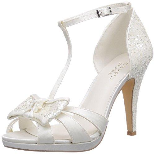 04 Plateau Wedding Elfenbein Menbur Fauno Ivory Sandalen Damen q7xB60tA6n