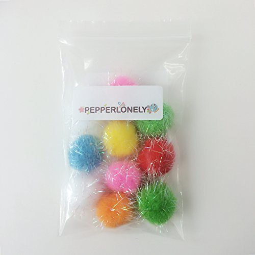 10pc Assorted Color Pom Pom Balls My Cat's All Time Favorite Toy [Misc.]
