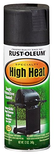Rust-Oleum 7778830-6 PK Specialty High Heat 7778830 Bar-B-Que Spray Paint, 12 oz, Black, 6-Pack,