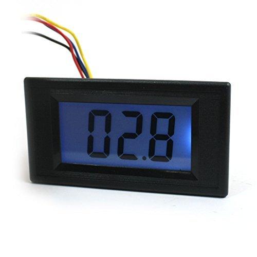3 1/2 Schwarz stelliges LCD-Display-Panel-Widerstandsmessgerät Zähler 0-200 Ohm