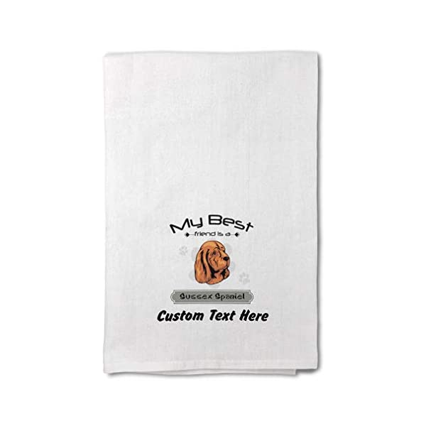 Style In Print Custom Decor Flour Kitchen Towels My Best Friend is Sussex Spaniel Dog Pets Dogs Cleaning Supplies Dish Towels Design Only 1