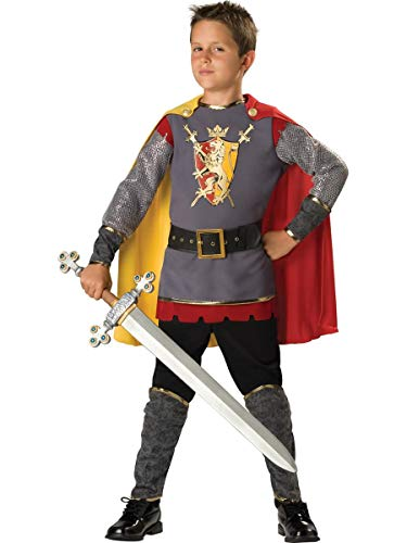 In Character Costumes, LLC Boys 2-7 Loyal Knight Tunic Set, Silver/Burgundy, 4 ()