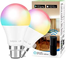 LE Alexa Smart Bulb Bayonet, App or Voice Control, B22 Colour Changing Light Bulb, Works with Alexa and Google Home, No...