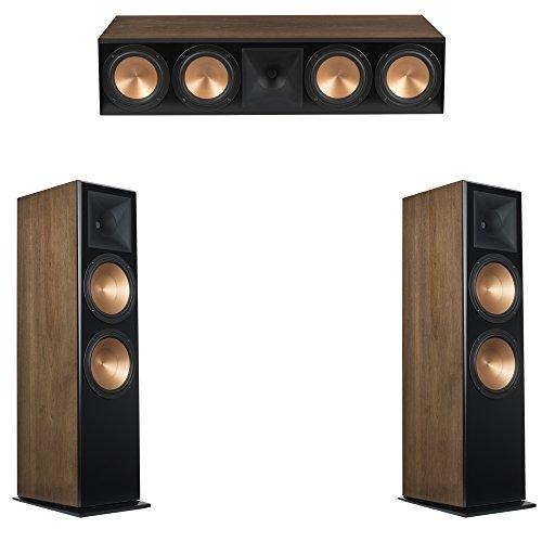 Klipsch 3.0 Walnut System with 2 RF-7 III Floorstanding Speakers, 1 RC-64 III Center Speaker (Klipsch Rc 64 Ii Center Channel Speaker)