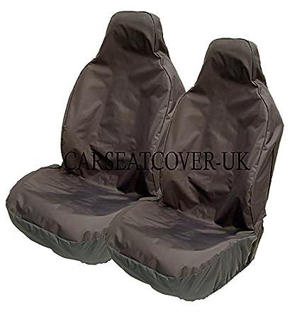 Carseatcover-UK Lot de 2 housses de siè ges é tanches universelles pour siè ges avant Noir