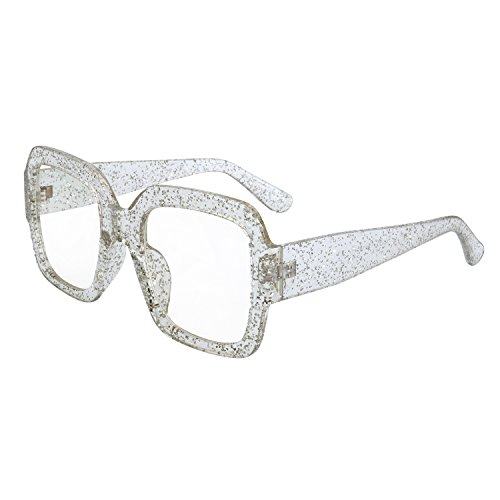WOWSUN Retro Vintage Square Sunglasses for Women Fashion Big Shades UV400 - Big For Faces Frames Glasses