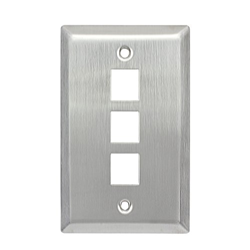 stainless steel 3 gang wall plate - 9