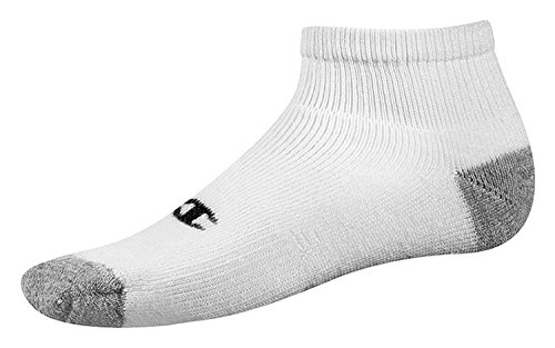 Champion Double Dry Performance Men's Quarter Socks 6-Pack_White_10-13 from Champion