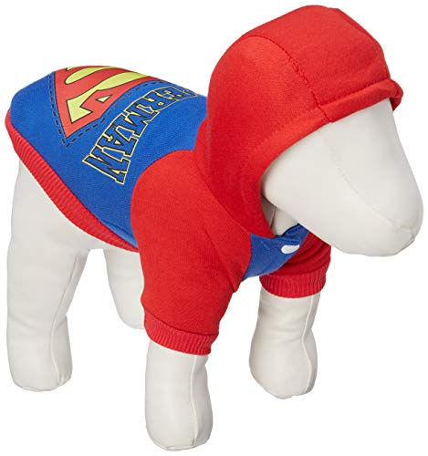 SMALLLEE_LUCKY_STORE Jumper Soft Cotton Hoodie Coat, Blue, Small (Sweater Dog Superman)