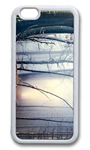 MOKSHOP Adorable dark forest Soft Case Protective Shell Cell Phone Cover For Apple Iphone 6 Plus (5.5 Inch) - TPU White