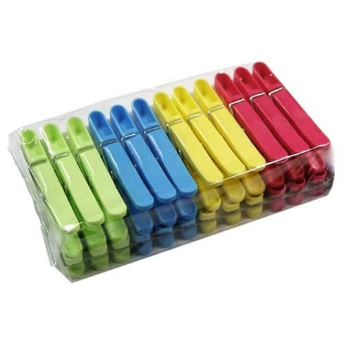 Quality Plastic Clothes Pegs x 24 from Caraselle