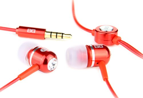 BassBuds Classic Collection In-Ear Headphones - Red