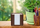 Memo Cube Holder, Black, Faux Leather, Supplied