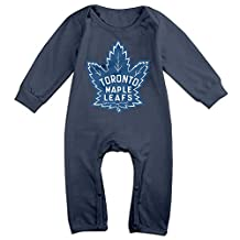 Toronto Maple Leafs BABY Funny Long Sleeves Baby Onesies Bodysuit For Toddler