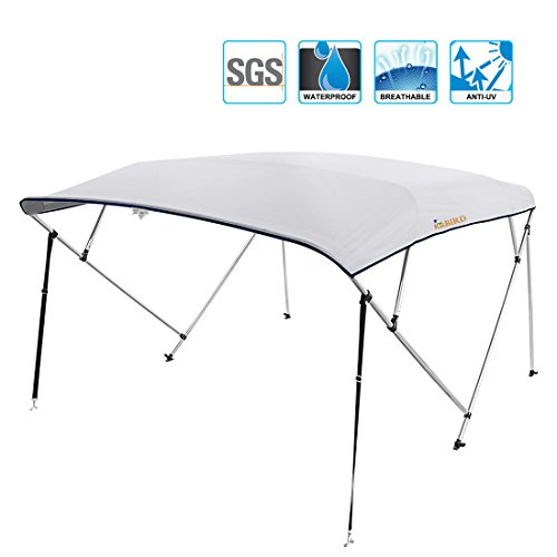 KING BIRD Kingbird 4 Bow Bimini Boat Top Cover Sun Shade Boat Canopy Waterproof 1 Inch Stainless Aluminum Frame 54