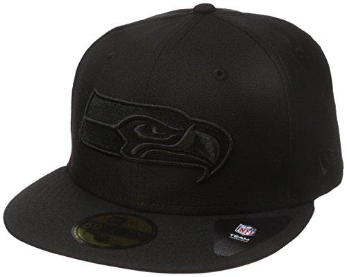 ナサニエル区発生くまNew Era NFL Seattle Seahwks Black On Black 59fifty Fitted Cap Limited Edition