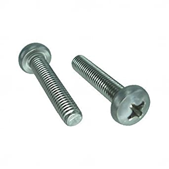 The Hillman Group 44920 8 x 1-1//4-Inch Jackson Head Trim Screw Chrome 20-Pack