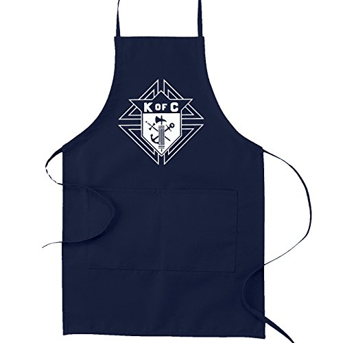 Knights of Columbus Masonic Cooking Kitchen Apron - [Navy Blue]
