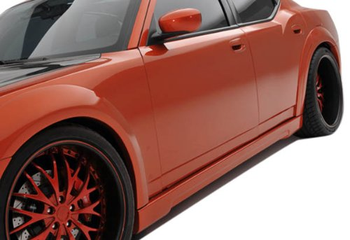 Couture Urethane Luxe Wide Body Side Skirts Rocker Panels - 2 Piece Body Kit - Fits Dodge Charger - 2006 2007 2008 2009 2010 | 06 07 08 09 10 (10 Dodge Charger Polyurethane)