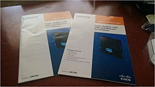 Linksys Cable Modem CM100 User Guide & Installation Manual - Book