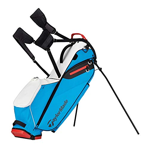 TaylorMade Golf Flextech Lite Stand Bag White/Blue/Red (White/Blue/Red)