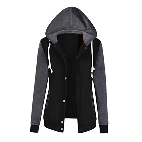 Ladies Blend - Jushye Women's Hoodies Jacket Coat, Ladies Autumn Hoody Fashion Long Sleeve Hoodie Sweatshirt Print Causal Tops Blouse (XL, Black)