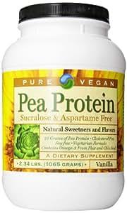 Pure Vegan Pea Protein Dietary Supplement, Vanilla, 2.34 Pound