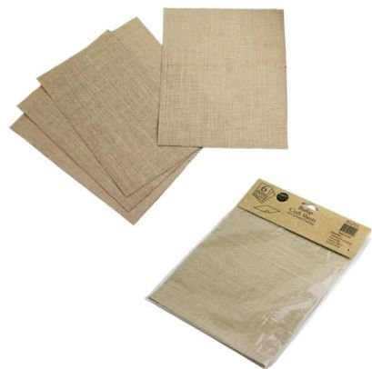 6-sheets Burlap Crafts Sheets 100% Natural Jute Fiber 8 1/2