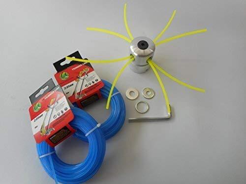 Aluminio - Cabeza segadora mähkopf Motor Sense Desbrozadora (+ 2 x ...