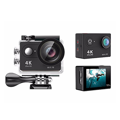4K Action Camera Vision 5 Underwater Waterproof Camera 170° Wide Angle WiFi Sports Cam with Remote 2 Batteries and Mounting Accessories Kit