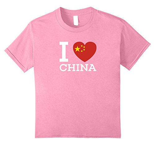 China Heart (unisex-child I Love CHINA Heart special T Shirt for China Lovers 10 Pink)