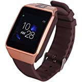 Bluetooth Smart Watch Touchscreen with Camera, TechFaith G12 Unlocked Watch Cell Phone with Sim Card Slot, Smart Wrist Watch, Smartwatch for Android Samsung IOS iPhone Smartphones (Gold)