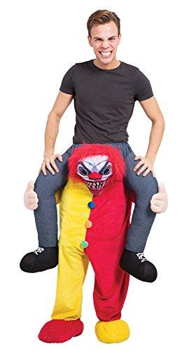 Bristol Novelty AF015 Scary Clown Piggy Back Costume, One -
