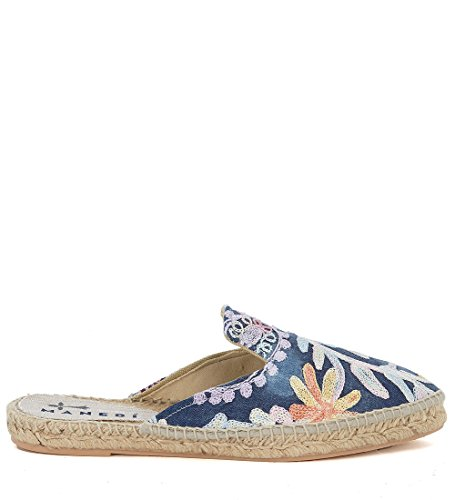 Multicolor Manebí Y Bordado Denim Mules En Yute Paris aAwqfa0n1