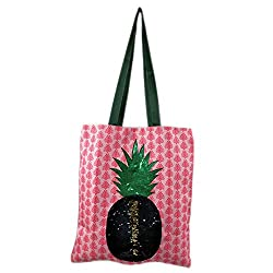 Woman Fashion Flamingo Reversible Sequin Tote