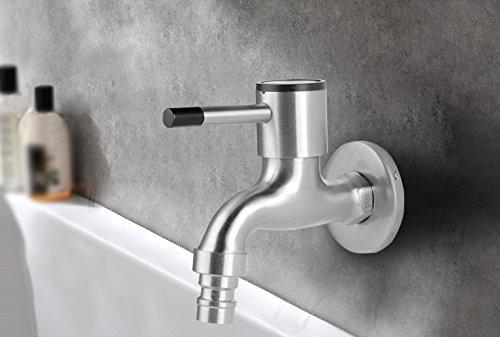 Hlluya Wasserhahn für Waschbecken Küche Edelstahl Edelstahl Edelstahl Armaturen, Balkon Küche Wasserhahn, Waschmaschöne Wasseranschluß 94633a