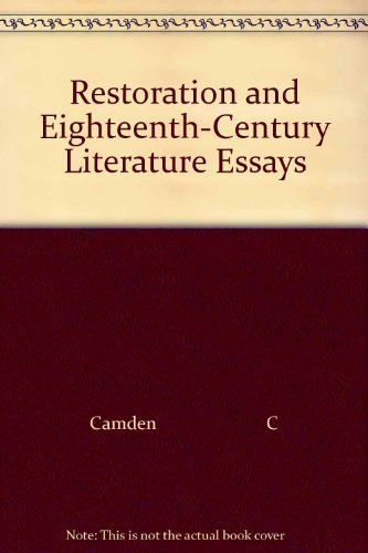 Restoration and Eighteenth-Century Literature Essays