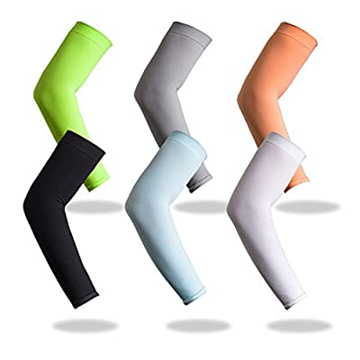 YISEVEN Sports Compression Arm Sleeves (1 Pair)