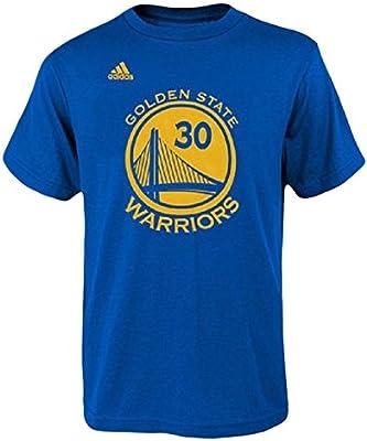 Camiseta del jugador Stephen Curry del los Golden State Warriors de la Nba, marca Adidas, color azul, hombre, azul, small: Amazon.es: Deportes y aire libre