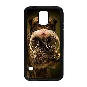 Diy Cute Monkey Phone Case for samsung galaxy s5 Black Shell Phone JFLIFE(TM) [Pattern-2] Kimberly Kurzendoerfer