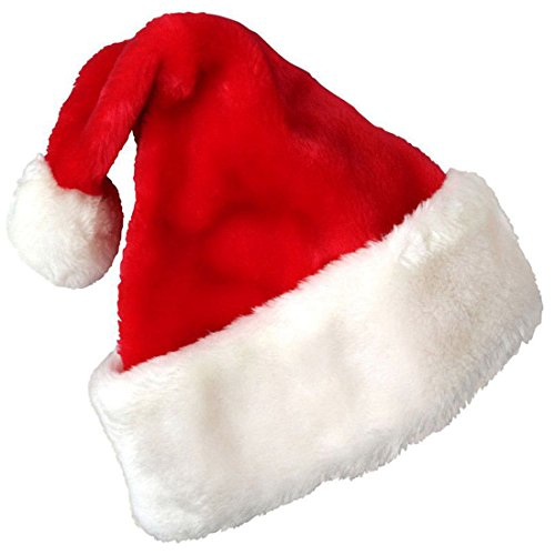 Couple Pimp Costume (Christmas Hat Santa Hat Plush Red Velvet Santa Hat Perfect For Christmas Events And Parties for Adults And)