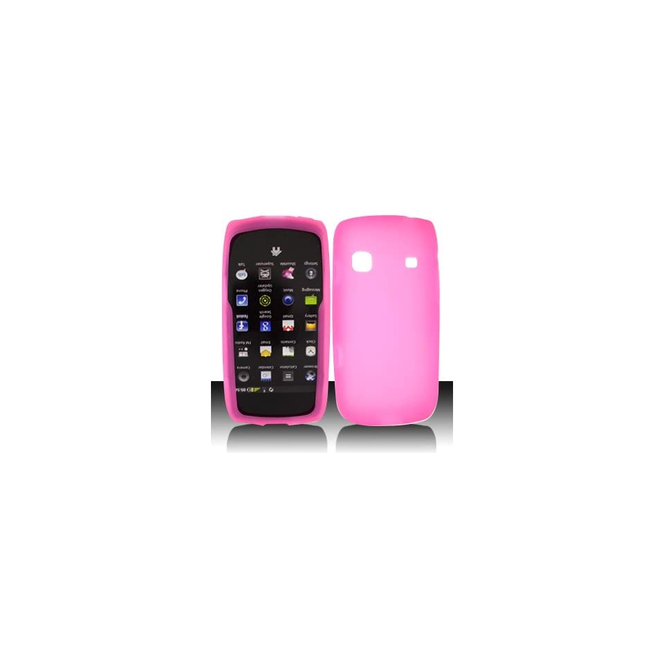 For Sprint Samsung Replenish M580 Accessory   Pink Silicon Skin Case Proctor Cover