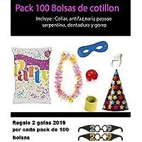 Bolsas de cotillon 100 unidades + 2 gafas