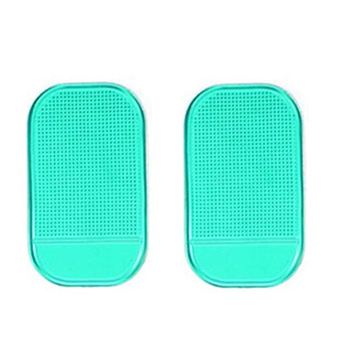 i-Slip Dashboard Sticky Pad Non-slip Mat Holder Stands for IPhone 6 Plus/7/8/X 3.5-6.0inch Phone (2PCS, Green) ()