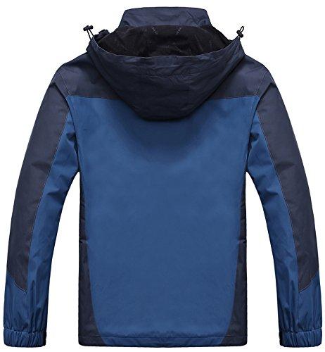 AbelWay Mens Outdoor Mountain Waterproof Windbreaker Softshell Hooded Jacket at Amazon Mens Clothing store: