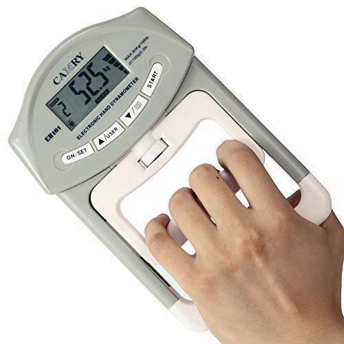 (CAMRY Digital Hand Dynamometer Grip Strength Measurement Meter Auto Capturing Hand Grip Power 200 Lbs / 90)