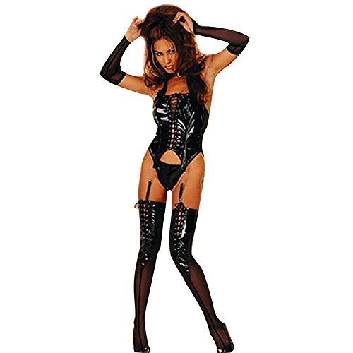 iEFiEL Womens Sexy Lingerie Corset Leggings Gloves+ Sleepwear+G-String+Garter Set